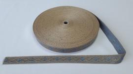 Galon bisericesc Nicodim 25 mm auriu cu albastru