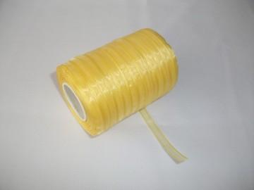 Panglica organza 6 mm - galben