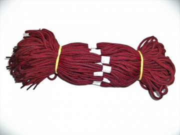 Sireturi satirate 110 cm rosu cu negru - Tip1