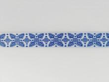 Banda tesuta Alberta 25 mm - pe albastru