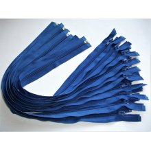 Fermoare detasabile #5 nylon 50,60,75,80,90 albastru