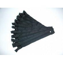 Fermoare pantaloni #5 - 20 cm negru