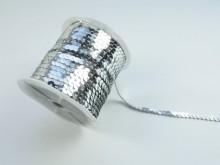 Paiete argintii la rola, 6mm x 100yds