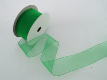 Panglica organza 41 mm verde