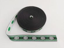 Banda tesuta Carmen 30 mm - cu alb