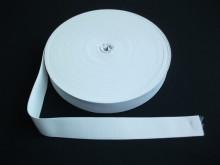 Elastic lat 40 mm alb si negru