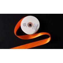 Panglica satinata ambele fete 25 mm portocalie