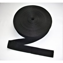 Rips negru 20mm, 25mm, 30mm, 40mm, 50mm/100m