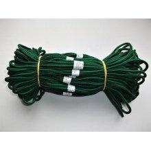 Sireturi satirate 110 cm verde cu negru - Tip1