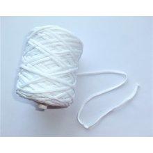 Snur tricotat 3.8 mm alb