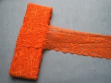 Dantela elastica portocaliu 8cm, cod300