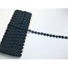 *Dantela poliester 1.4 cm, cod4824 - bleumarin