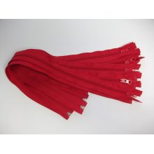 Fermoare detasabile #5 nylon 50,60,75,80,90 rosu