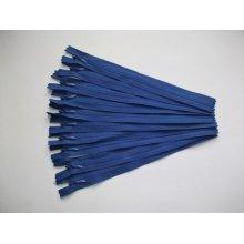 Fermoare invizibile 20 cm albastru