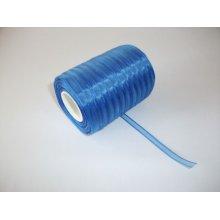 Panglica organza 6 mm - albastru