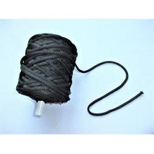 Snur tricotat 3.8 mm negru