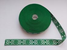 Banda tesuta Modena 25 mm - pe verde