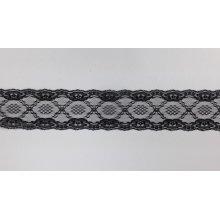 Dantela neelastica neagra 7.2 cm, cod3