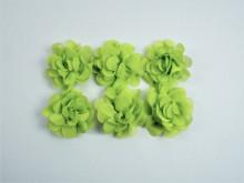 Flori textile - verde crud - 10 buc