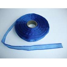 Panglica organza 15 mm albastru