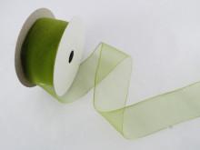 Panglica organza 25 mm verde praz