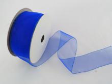 Panglica organza 41 mm albastru
