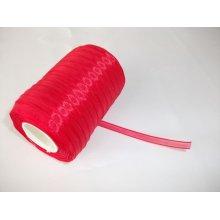 Panglica organza 6 mm - rosu