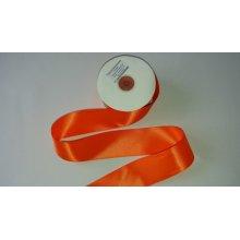 Panglica satinata ambele fete 38 mm portocalie