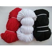 Snur cu miez 4 mm - alb, negru si rosu