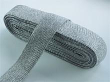 Elastic Lurex Argintiu - 20mm