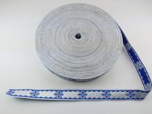 Galon bisericesc Sava 25 mm argintiu cu albastru
