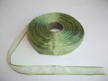Panglica organza 10 mm - verde praz