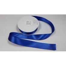 Panglica satinata ambele fete 25 mm albastra