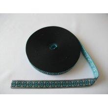 Banda tesuta Anca 13 mm, 23mm - bleu cu argintiu