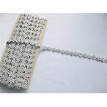 *Dantela poliester 1.4 cm, cod4824 - gri argintiu