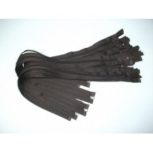 Fermoare detasabile #5 nylon 50,60,70,75,80,90 maro