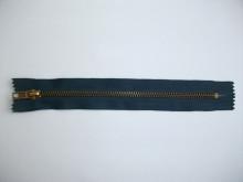 Fermoare fixe #4 metal 10 cm bleumarin cu dinti auriu arhaic