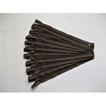 Fermoare fusta #3 - 20 cm maro inchis cod302