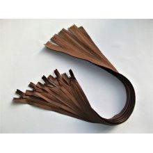 Fermoare invizibile 50 cm maro roscat, cod300