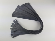 Fermoare lenjerie #3 - 50 cm gri inchis