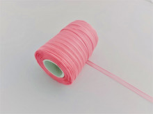 Panglica organza 6 mm - roz inchis