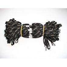 Sireturi satirate 110 cm gri cu negru - Tip3