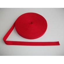 Banda bumbac 25 mm rosie