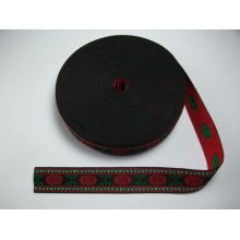 Banda tesuta Carmen 30 mm - cu rosu