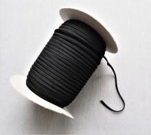 *Elastic tesut Marin, 5mm alb si negru - 150m