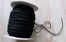 Elastic tesut rotund negru - 200m
