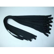 Fermoare detasabile #5 nylon 50,55,60,65,70,75,80,85,90 negru