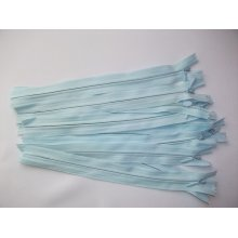 Fermoare invizibile 20 cm bleu