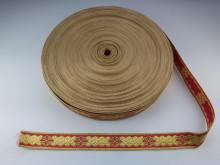 Galon bisericesc Sava 25 mm auriu cu rosu