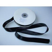 Panglica satinata ambele fete 20 mm negru